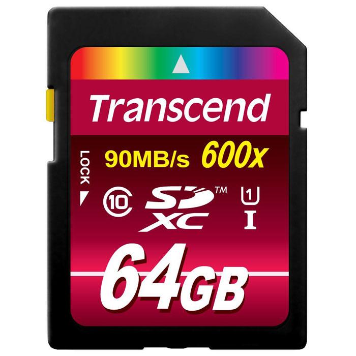 Transcend SDXC Class 10 UHS-I 600x 64GB карта памяти (TS64GSDXC10U1)TS64GSDXC10U1Карты памяти Transcend SDXC Class 10 UHS-I 600x обеспечивают невероятный уровень быстродействия и предоставляют огромный объём памяти профессионалам, которые работают с передовым фото- и видеооборудованием.Эти карты памяти отвечают самым высоким требованиям к записи Full HD видео и изображений в высоком разрешении. Они обеспечивают улучшенную производительность фотокамеры в режиме серийной съемки и плавную запись видео в разрешении Full HD. Встроенная технология ECC предназначена для обнаружения и исправления ошибок при передаче данных. Для восстановления удаленных и утраченных данных с портативных носителей используется эксклюзивная программа RecoveRx.