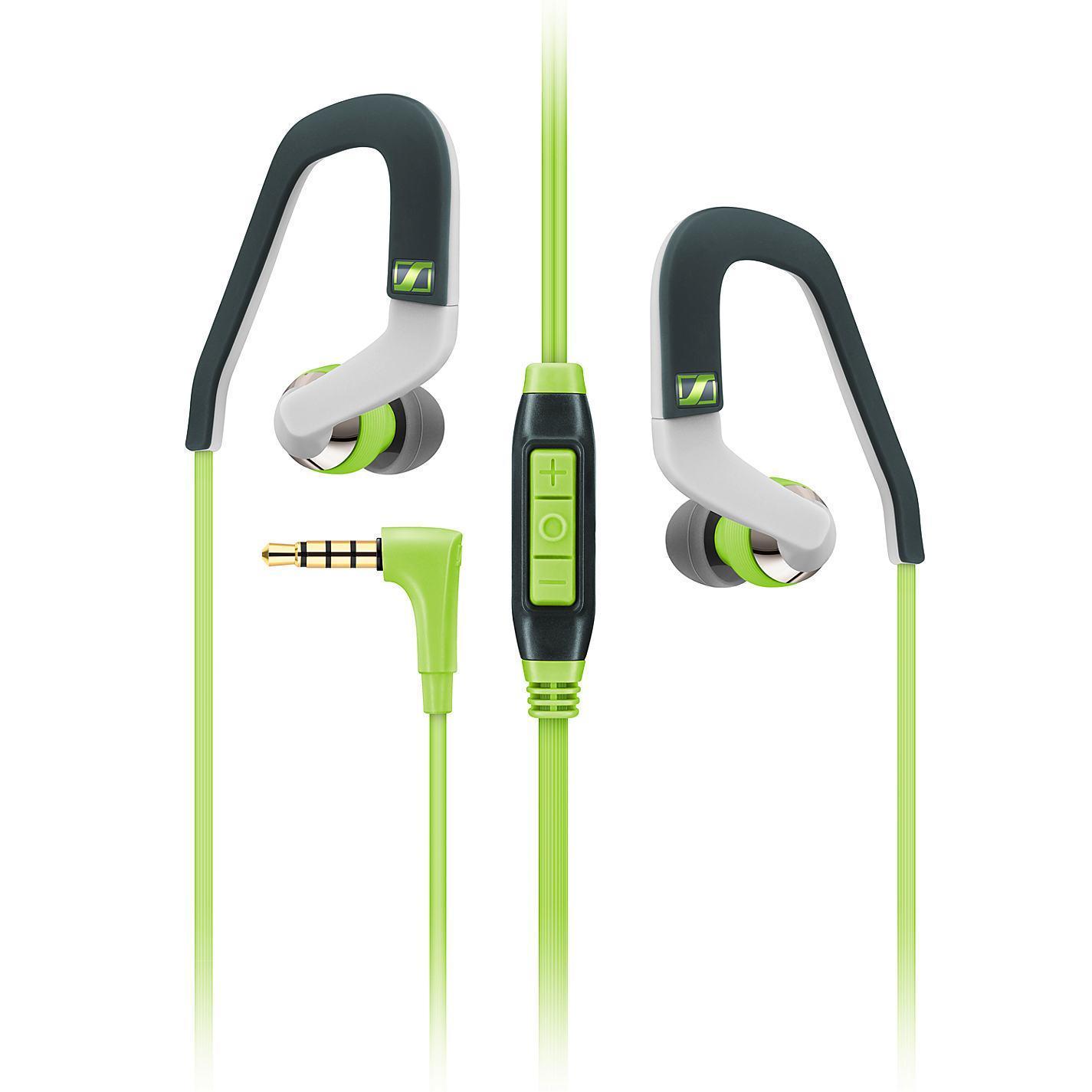 Sennheiser OCX 686G Sports, Green наушники506226Высокопроизводительные драйверы мобильных наушников Sennheiser OCX 686G SPORTS обеспечивают великолепное качество звука, а внутриканальная конструкция - защиту от окружающего шума. Легкий вес, эргономичный дизайн и гибкие заушины способствуют надежной посадке, что позволит Вамповысить интенсивность тренировки.