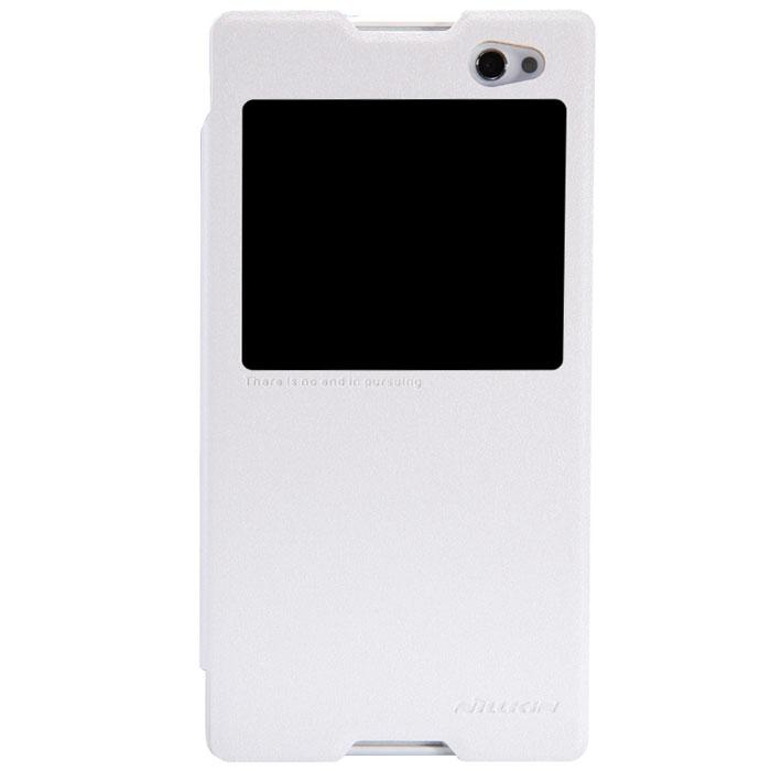 Nillkin Sparkle Leather Case чехол для Sony Xperia C3, White2000000020563Чехол Nillkin Sparkle Leather Case для Sony Xperia C3 выполнен из высококачественного поликарбоната и экокожи. Он надежно фиксирует и защищает смартфон при падении. Обеспечивает свободный доступ ко всем разъемам и элементам управления.