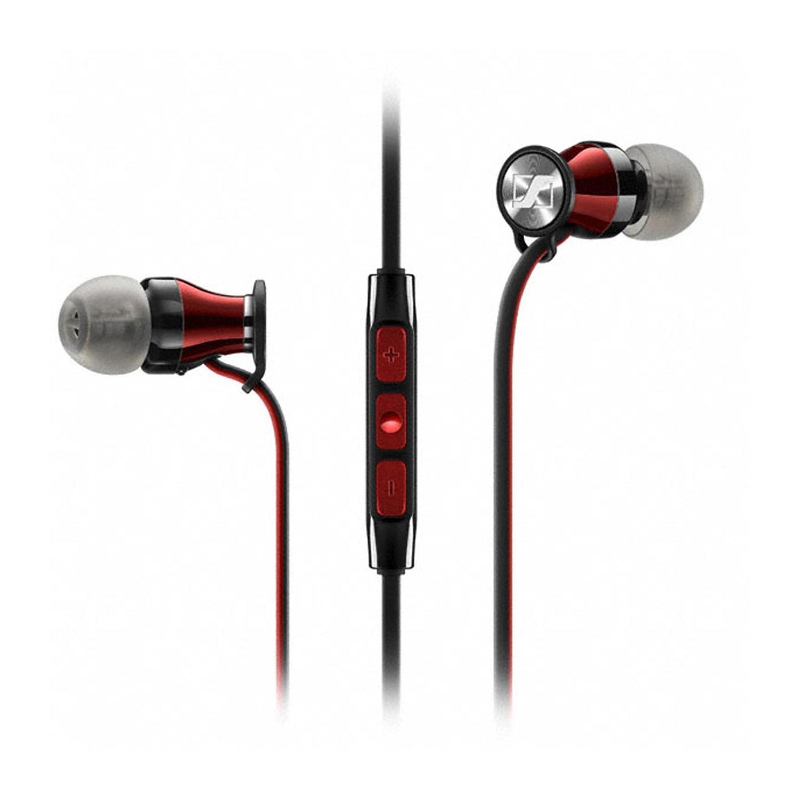 Sennheiser Momentum In-Ear M2 IEG наушники506244Новый член семейства MOMENTUM – внутриканальные MOMENTUM In-Ear сохраняют единство стиля, объединяя роскошный внешний вид с превосходным звучаниемMOMENTUM In-Ear продвигают концепцию наушников на новый уровень. Сочетание элегантного вида, эргономичного дизайна и инновационной акустической инженерии обеспечивает невероятно богатое и сбалансированное звучаниеВ истинно миниатюрных наушниках MOMENTUM In-Ear заключен не только бескомпромиссный звук, поражает и количество технологичных деталей – от прецизионных воздуховодов из нержавеющей стали до 3-кнопочного многофункционального пульта управления с микрофономДизайн наушников MOMENTUM In-Ear изыскан и лаконичен. Более 200 контрастных красных стежков украшают черную молнию на чехле для защиты Ваших наушников. Красно-черный кабель выходит из глянцевых красных корпусов. Со знанием дела спроектированы и ушные адаптеры для индивидуальной подгонки, с помощью которых наушники сидят как влитыеВы даже можете забыть о наушниках MOMENTUM In-Ear. Их адаптивная конструкция с регулируемым углом в 15° позволяет комфортно подогнать их к любым ушам. Благодаря сверхмалым акустическим каналам и набору их 4 пар ушных адаптеров Вы будете получать безупречный звук