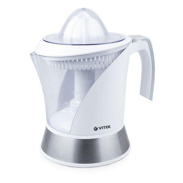 Vitek VT-3654 соковыжималкаVT-3654(W)Соковыжималка VITEK VT-3654 предназначена для приготовления витаминных напитков из различных цитрусовых фруктов. Корпус сделан из высококачественного пластика, который не выделяет неприятных запахов в процессе работы. Универсальный дизайн данной модели подойдет для каждого дома.