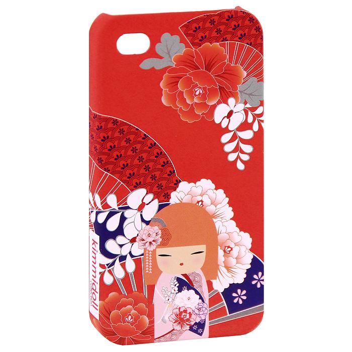 Чехол для iPhone 4/4s Kimmidoll Тамаки (Драгоценность), цвет: красный. KF0499KF0499Съемный чехол для верного гаджета iPhone 4/4s, украшен изображением очаровательной куколки Тамаки (Драгоценность). Чехол легко снимается и легко одевается, а главное, радует глаз! Чехол легко защитит любимый телефон от пыли, грязи и царапин, а в случае падения предотвратит трещины и сколы.В чехле есть специальные прорези (для окошка камеры, разъема для наушников и зарядного шнура, для клавиш регулировки звука и кнопочки беззвучного режима). Такой чехол станет прекрасным подарком для любительницы оригинальных и практичных вещиц.