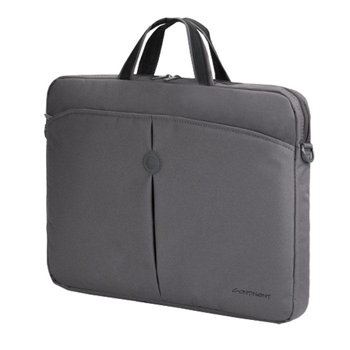 Continent CC-01, Grey сумка для ноутбука 15,6CC-01 GreyContinent CC01 - стильная простая и функциональная сумка для ноутбука.