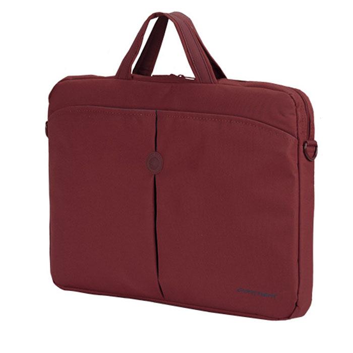 Continent CC-01, Red сумка для ноутбука 15,6CC-01 RedContinent CC01 - стильная простая и функциональная сумка для ноутбука.