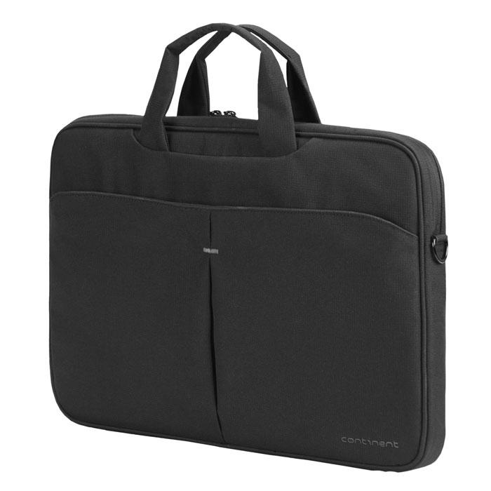 Continent CC-012, Black сумка для ноутбука 15,6CC-012 BlackСумка Continent CC-012 предназначена для нетбуков с диагональю экрана до 15.6. Стенки с мягкими вставками для надежной защиты нетбука. Основное отделение закрывается на застежку-молнию.