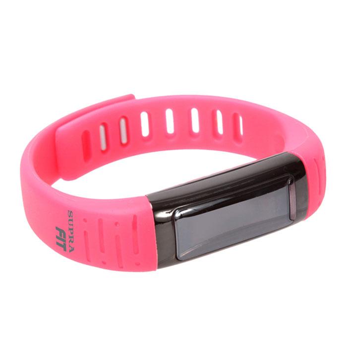 Supra PS-101, Pink фитнес-браслетPS-101 pinkSupra PS-101 - шагомер, совместимый с устройствами на платформе Android.Считает шаги, расстояние и сожженные калорииРаботает как часы, будильник, секундомерОснащен функцией мониторинга снаФункция анти-вор - при удалении смартфона/планшета от фитнес- часов срабатывает сигналОтображает на дисплее звонкиУдаленное управление камерой3 дня автономной работы на одном заряде батареиСовместимость с устройствами Android, Bluetooth 4.0USB зарядкаOLED дисплей