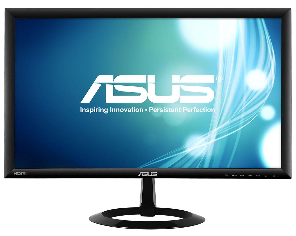 ASUS VX228H, Black монитор90LM00L0-B01670Asus VX228H - современный ЖК-монитор со светодиодной подсветкой, малым временем отклика, высокой контрастностью и интерфейсом HDMI. Помимо великолепного качества изображения он может похвастать прекрасным дизайном корпуса и обладает изящной, надежной подставкой.Благодаря технологии ASCR, которая динамически изменяет яркость подсветки в зависимости от текущего изображения, контрастность данного монитора достигает фантастического уровня – 80 000 000:1! Он обладает разрешением 1920x1080 пикселей и, таким образом, поддерживает формат видео Full-HD 1080p. Малое среднее время отклика – всего 1 мс (при переключении между полутонами) – обеспечивает отсутствие темных «шлейфов» позади движущихся объектов и плавное воспроизведение видео.Функция контроля соотношения сторон позволяет пользователям указать предпочтительный способ отображения видеоматериала при масштабировании: растягивать картинку на весь экран или сохранять соотношение сторон 4:3. Эксклюзивная технология Splendid Video Intelligence позволяет быстро настраивать монитор в соответствии с текущими задачами и условиями (игры, просмотр фото, работа в ночное время и т.д.), чтобы получить максимально качественное изображение. Всего доступно шесть вариантов настройки. Между ними можно легко переключаться нажатием на специально выделенную для этого кнопку.Функция QuickFit представляет собой виртуальную линейку, которую можно отобразить на экране нажатием горячей клавиши, чтобы понять, насколько изображение соответствует тому или иному формату, не распечатывая его на бумаге. VX228H предлагает богатый набор интерфейсов, включающий два разъема HDMI и D-Sub, что позволяет подключить к нему самые разные устройства, в том числе плееры Blu-ray и DVD, игровые консоли и т.д.