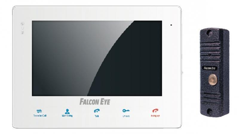 Falcon Eye FE-KIT Квартира видеодомофонFE-KIT КвартираПодключение к подъездным вызывным системам (через блок сопряжения, в комплект не входит)Регулировка громкости, яркости. Кнопки, расположенные на передней панели домофона, не дадут запутаться в выбираемой вами функцииОчень компактные размеры FE-KIT Квартира 200х140х16 несомненно, подойдут к любому интерьеру Вашего дома