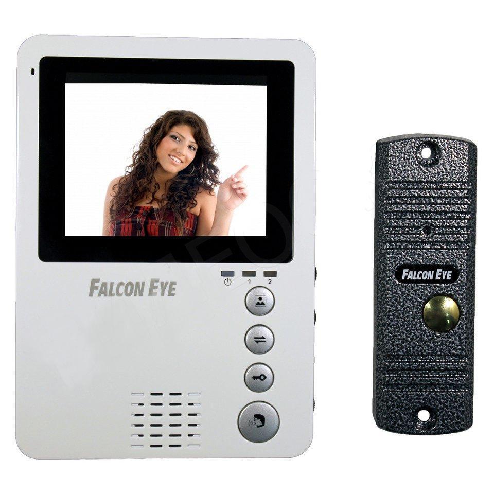 Falcon Eye FE-KIT Дом видеодомофонFE-KIT ДомПодключение к подъездным вызывным системам (через блок сопряжения, в комплект не входит)Регулировка громкости, яркости. Кнопки, расположенные на передней панели домофона, не дадут запутаться в выбираемой вами функцииОчень компактные размеры FE-KIT Дом 170Х120х20мм, несомненно, подойдут к любому интерьеру Вашего дома