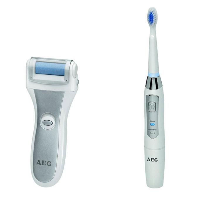 AEG PHE 5642, White Silver Электрическая роликовая пилка+ зубной центр AEG EZS 5663PHE 5642 weis-silber + EZS 5663 wessAEG PHE 5642 - машинка для педикюра и удаления мозолей в домашних условиях. Специальное покрытие ролика служит для безболезненного удаления ороговевшей кожи и стимулирования роста новой.