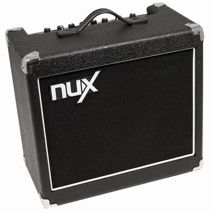 Nux Mighty15SE гитарный комбоусилительMighty15SEБлагодаря своему дружественному интерфейсу и потрясающему звуку Nux Mighty15SE - это одна из популярных моделей комбоусилителей семейства NUX. Данная модель выводит звучание на совершенно другой, более высокий уровень посредством продвинутой цифровой платформы, улучшающей звук и эффекты. Панель управления основана на платформе классического усилителя Mighty15. В основе электронной начинки процессоров NUX лежит технология TS/AC, что означает True Simulation of Analog Circuits - Подлинная имитация аналоговых устройств.В процессе игры вы заметите более динамичное воспроизведение звука, моментально реагирующее на разностилевое исполнение, по звуку не отличающееся от воспроизведения звука настоящего лампового усилителя. К тому же, Nux Mighty15SE имеет достаточный запас мощности и может использоваться не только в домашних условиях, но и на небольших концертах и мероприятиях. При необходимости усилить звук, можно подключиться к порталовой системе через линейный выход. Усилитель имеет небольшие габариты, его легко взять с собой к друзьям, на репетицию, небольшую концертную площадку.Динамик: 8 (19.2 см.)Технология TS/ACЧистый канал, 6 типов дисторшн, 4 эффекта модуляции, эффект задержки (delay) и реверберации (reverb)3-х полосный эквалайзер (3-band EQ)Кнопка регулировки ритма (TAP tempo)Встроенный тюнер