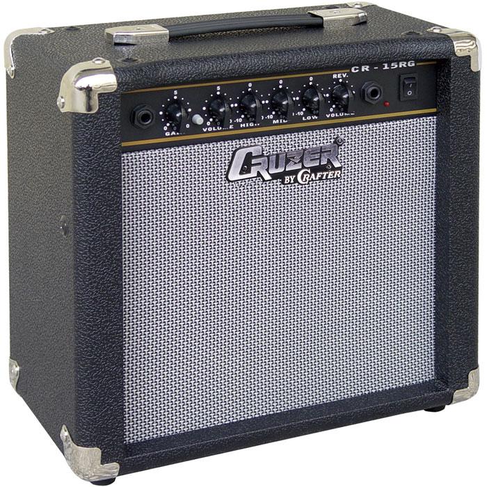 Cruzer CR-15RG гитарный комбоусилительCR-15RGГитарный комбоусилитель Cruzer CR-15RG оснащен динамиком 6,5 и обладает мощностью 15 Вт. Данная модель отличается наличием эффекта реверберации, что поможет найти подходящее звучание для вашей гитары. Устройство подойдет для домашних репетиций и первых опытов живых выступлений перед небольшой аудиторией. Управление состоит из контроллеров высоких, средних и низких частот, громкости и усиления сигнала. Выход на наушники и линейный вход удобно расположены на передней панели вместе с остальными элементами управления. Динамик 1 x 6,52 канала: чистый и перегруз3-х полосный эквалайзерРевербератор