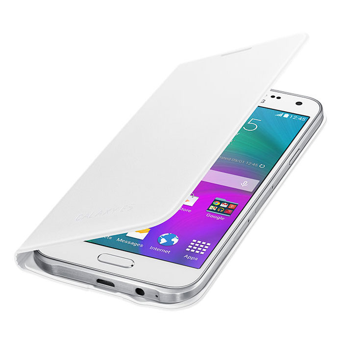 Samsung EF-WE500B Flip Wallet чехол для Galaxy E5, White - Чехлы