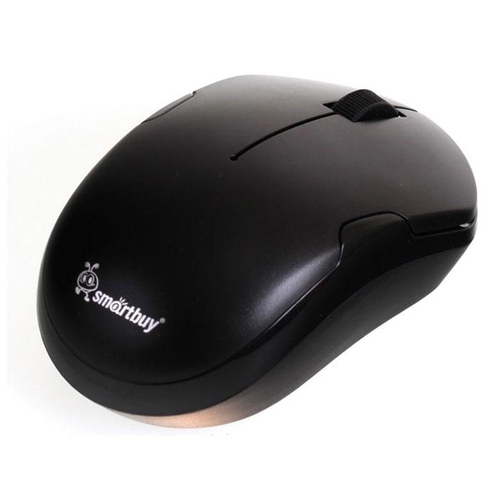 Smartbuy SBM-355AG-K, Black беспроводная мышьSBM-355AG-KSmartBuy SBM-355AG USB - это беспроводная оптическая мышь, которая имеет современный эргономичный дизайн. Благодаря чувствительному сенсору мышь может работать на различных поверхностях, не теряя при этом своей точности и плавности. Она имеет оптический сенсор с разрешением 1000 dpi. Данная модель подходит для работы в офисе.