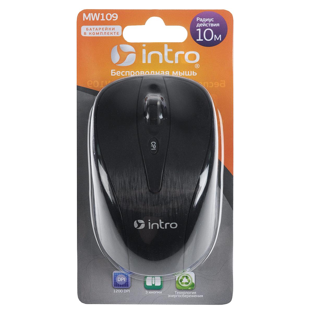 Intro MW109 Wireless мышьMW109Беспроводная мышь Intro MW109 обладает эргономичным дизайном и отлично подходит как для игр, так и для работы в офисе.