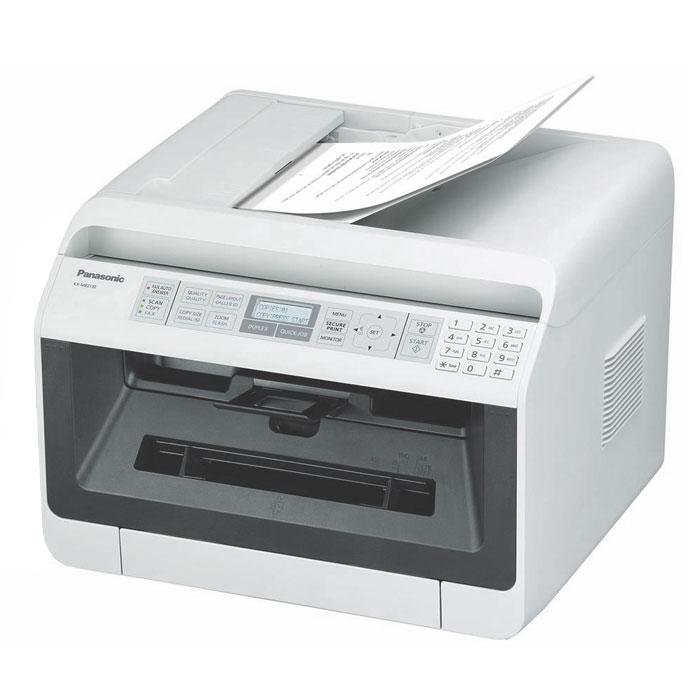 Panasonic KX-MB2110RU МФУKX-MB2110RUWЛазерное МФУ Panasonic KX-MB2110RU является полезным и удобным аппаратом с функциями принтера, сканера и копира. Такие устройства особенно пригодятся тем, кто стремится к экономии офисного и домашнего пространства. МФУ представляет собой сочетание экономичности и высокого качества работы.Компактный автоподатчик на 35 листов облегчает процесс копирования и сканирования. Информативный 2-строчный ЖК-дисплей позволит отследить процессы, выполняемые МФУ, а сетевой интерфейс - разместить устройство в любом месте офиса или квартиры, где есть локальная сеть, и распечатывать документы с любой машины в сети, независимо от того, включены или выключены остальные компьютеры. Также имеется возможность сканирования на электронную почту, ПК (в форматах PDF,TIFF,JPEG,BMP) и на FTP-сервер/ папку SMB (в форматах PDF,JPEG или TIFF).