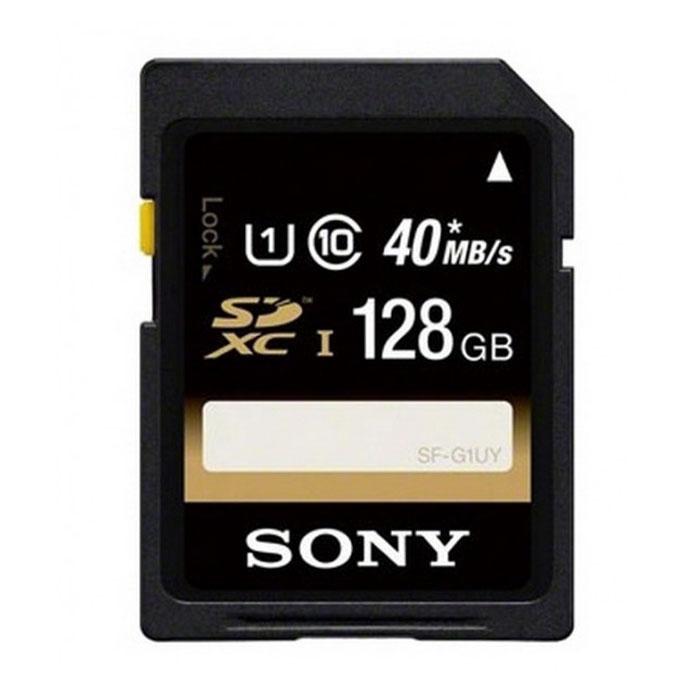 Sony SDXC Class 10 UHS-I 128Gb карта памяти (SFG1UYT)SFG1UYTБольшая емкость карты памяти Sony SDXC Class 10 UHS-I позволит вам более эффективно пользоваться портативными устройствами и хранить сотни музыкальных файлов, видео-клипов, изображений, игр и персональную информацию. Скорость чтения данной карты памяти составляет 40 Мб/с.