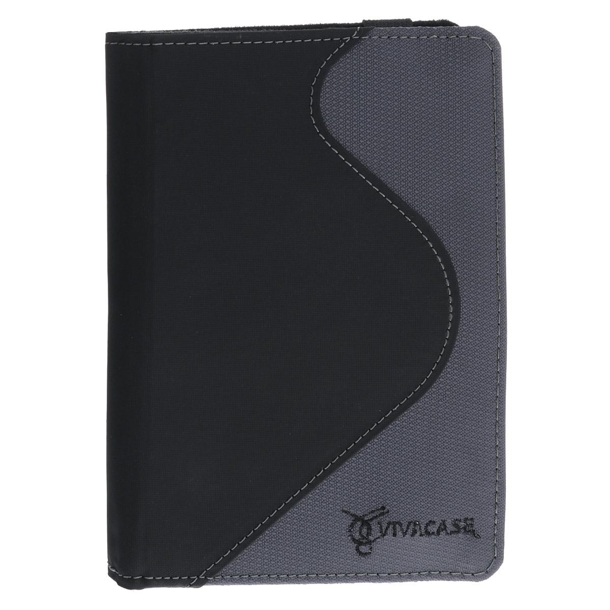 Vivacase S-style Lux обложка для PocketBook Touch 622, Black GreyVPB-Sf622GrСерия чехлов для PocketBook из коллекции S-Style Lux для PocketBook 622 Touch – это воплощение безупречного качества и стиля. Чехлы для PocketBook S-Style Lux изготовлены из качественной, дышащей ПУ-кожи и плотной ткани. Крепление EVS позволяет надежно зафиксировать устройство. Такая обложка не только защищает ее от повреждений, но и делает ее использование более удобным.Совместимость:PocketBook 611/613PocketBook 614/622/623/624/626