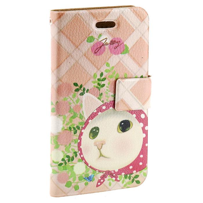 Чехол для iPhone Perfecto Pink Hood. CPH-CT-26CPH-CT-26Модный и яркий чехол Pink Hood выполнен из натуральной кожи и оформлен красочным изображением белой кошечки. Чехол открывается в виде книжки и закрывается на магнитный хлястик. Он защитит ваш любимый iPhone от пыли, грязи и царапин, а также станет отличным дополнением к вашему имиджу.Такой чехол станет прекрасным подарком для любительницы оригинальных и практичных вещиц.