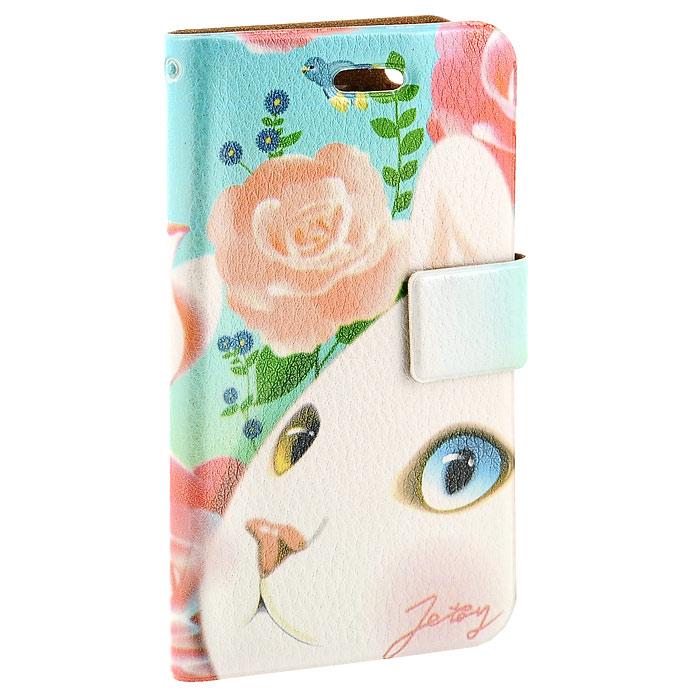Чехол для iPhone Perfecto Pink Rose. CPH-CT-27CPH-CT-27Модный и яркий чехол Pink Rose выполнен из натуральной кожи и оформлен красочным изображением белой кошечки. Чехол открывается в виде книжки и закрывается на магнитный хлястик. Он защитит ваш любимый iPhone от пыли, грязи и царапин, а также станет отличным дополнением к вашему имиджу.Такой чехол станет прекрасным подарком для любительницы оригинальных и практичных вещиц.