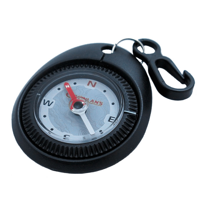 Туристический компас COGHLANS, цвет: черный1236bТуристический компас COGHLANS с карабином для крепления на одежду. Может использоваться в качестве брелока. Компас имеет вращающийся ободок с установкой направления. Корпус заполнен специальной жидкостью.