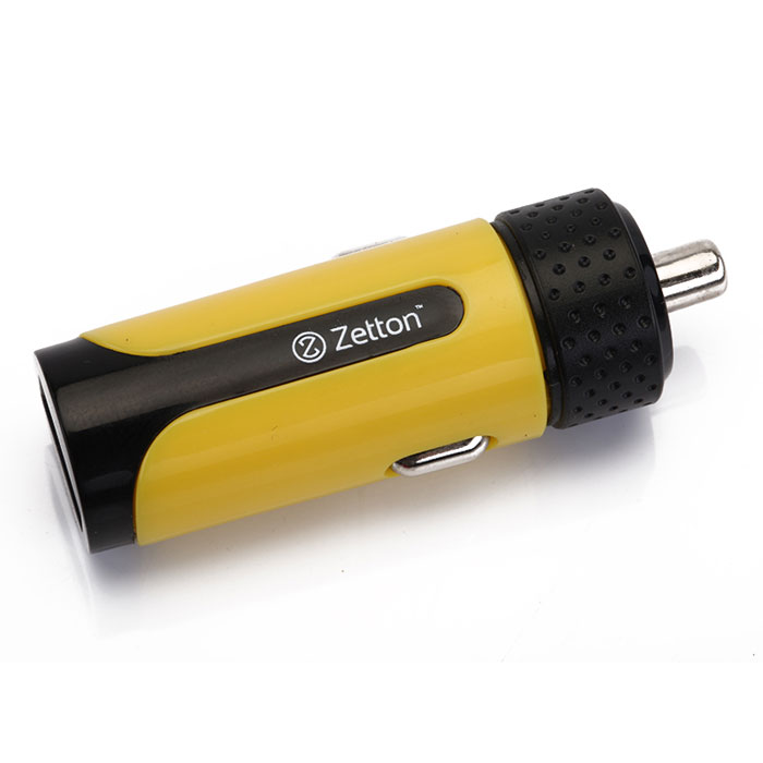 Zetton Life Style 2А автомобильное зарядное устройство, Black Yellow (ZTLSCC2A)ZTLSCC2A1UBYАвтомобильное зарядное устройство Zetton Life Style (ZTLSCC2A) совместимо с любым современным мобильным устройством (телефоном, смартфоном, планшетным ПК). Работает в автомобильных бортовых сетях (12-24 В).