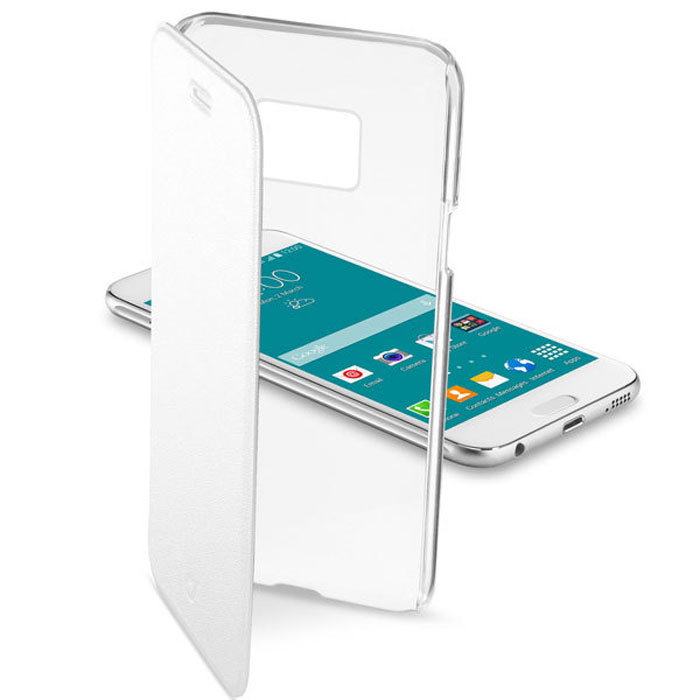 Cellular Line Clear Book чехол для Samsung Galaxy S6, White cellular line book agenda чехол для iphone 6 white 21832