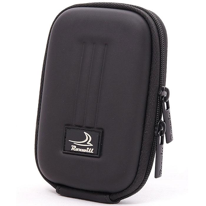Roxwill B10, Black чехол для фото- и видеокамерB10 blackRoxwill B10 - надежный чехол для компактных фотокамер. Он гарантированно защитит вашу камеру от случайных ударов и царапин, а также от пыли и влаги. Изделие изготовлено из EVA (вспененная резина). Данный материал не подлежит воздействию агрессивных веществ и предохраняет фотоаппарат при падении. Для переноски предусмотрен регулируемый шейный ремешок и возможность крепления на поясном ремне.
