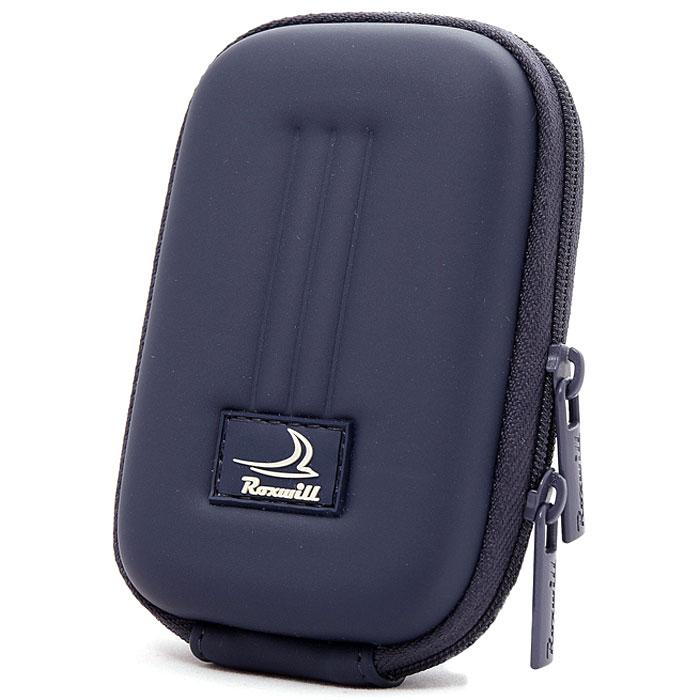 Roxwill B30, Dark Blue чехол для фото- и видеокамерB30 dark blueRoxwill B30 - надежный чехол для компактных фотокамер. Он гарантированно защитит вашу камеру от случайных ударов и царапин, а также от пыли и влаги. Изделие изготовлено из EVA (вспененная резина). Данный материал не подлежит воздействию агрессивных веществ и предохраняет фотоаппарат при падении. Для переноски предусмотрен регулируемый шейный ремешок и возможность крепления на поясном ремне.