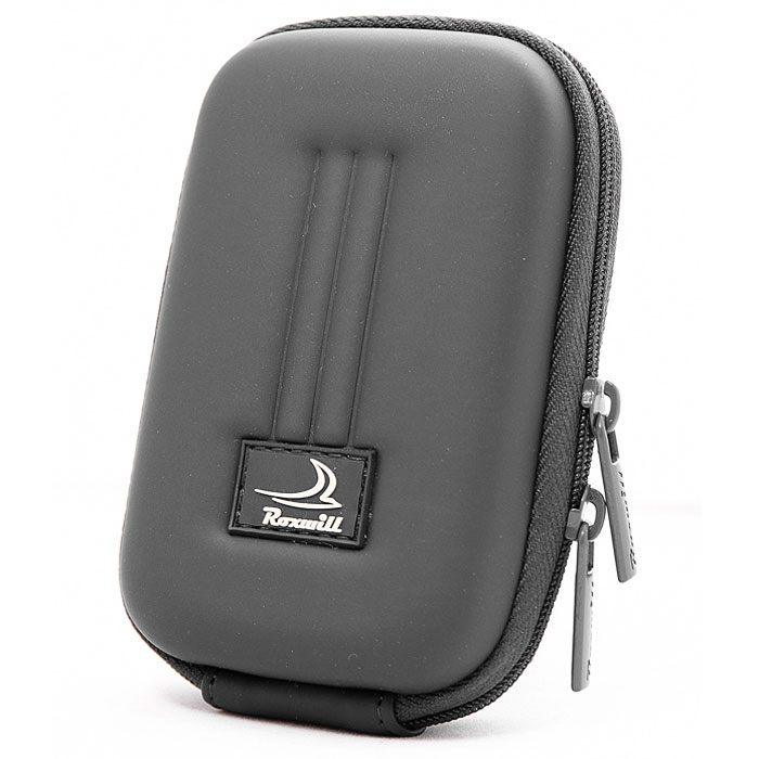 Roxwill B40, Black чехол для фото- и видеокамерB40 blackRoxwill B40 - надежный чехол для компактных фотокамер. Он гарантированно защитит вашу камеру от случайных ударов и царапин, а также от пыли и влаги. Изделие изготовлено из EVA (вспененная резина). Данный материал не подлежит воздействию агрессивных веществ и предохраняет фотоаппарат при падении. Для переноски предусмотрен регулируемый шейный ремешок и возможность крепления на поясном ремне.