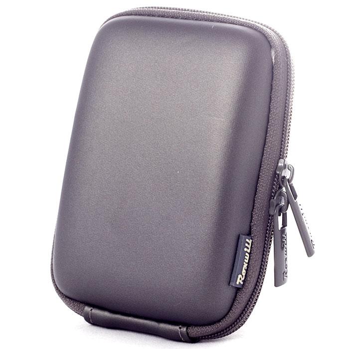 Roxwill C20, Dark Grey чехол для фото- и видеокамерC20 dark greyRoxwill C20 - надежный чехол для компактных фотокамер. Он гарантированно защитит вашу камеру от случайных ударов и царапин, а также от пыли и влаги. Изделие изготовлено из EVA (вспененная резина). Данный материал не подлежит воздействию агрессивных веществ и предохраняет фотоаппарат при падении. Для переноски предусмотрен регулируемый шейный ремешок и возможность крепления на поясном ремне.
