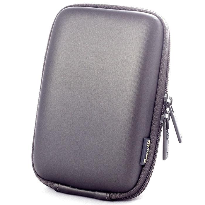 Roxwill C40, Dark Grey чехол для фото- и видеокамерC40 dark greyRoxwill C40 - надежный чехол для компактных фотокамер. Он гарантированно защитит вашу камеру от случайных ударов и царапин, а также от пыли и влаги. Изделие изготовлено из EVA (вспененная резина). Данный материал не подлежит воздействию агрессивных веществ и предохраняет фотоаппарат при падении. Для переноски предусмотрен регулируемый шейный ремешок и возможность крепления на поясном ремне.