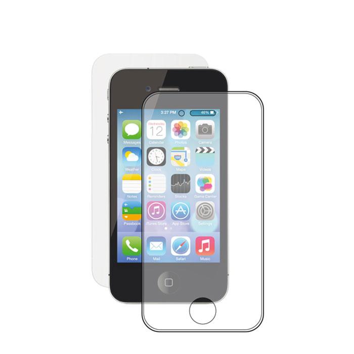 Deppa защитное стекло и пленка на заднюю панель для Apple iPhone 4/4S, прозрачное (0.3 мм)61929Прочное защитное стекло Deppa для Apple iPhone 4/4s. Обеспечивает более высокий уровень защиты по сравнению с обычной пленкой. При этом яркость и чувствительность дисплея не будут ограничены. Препятствует появлению воздушных пузырей и надежно крепится на экране устройства.