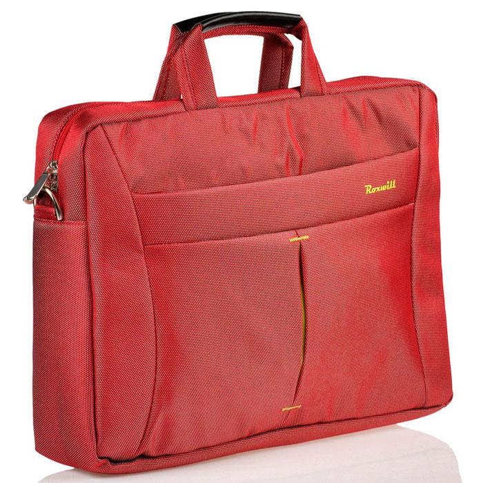 Roxwill DF60, Red cумка для ноутбука 15.6DF60 redСумка Roxwill DF60 для ноутбуков диагональю до 15.6. Основной материал - высококачественный нейлон, который надежно защитит содержимое от пыли, влаги и царапин. Для защиты от ударов сумка имеет подкладку из синтетического материала. Имеет несколько карманов для аксессуаров и отдел для документов.Двойная застежка молния для удобного доступа к ноутбукуМеталлическая фурнитураРегулируемый съемный плечевой ремень.Крепление на багажную сумку-тележку
