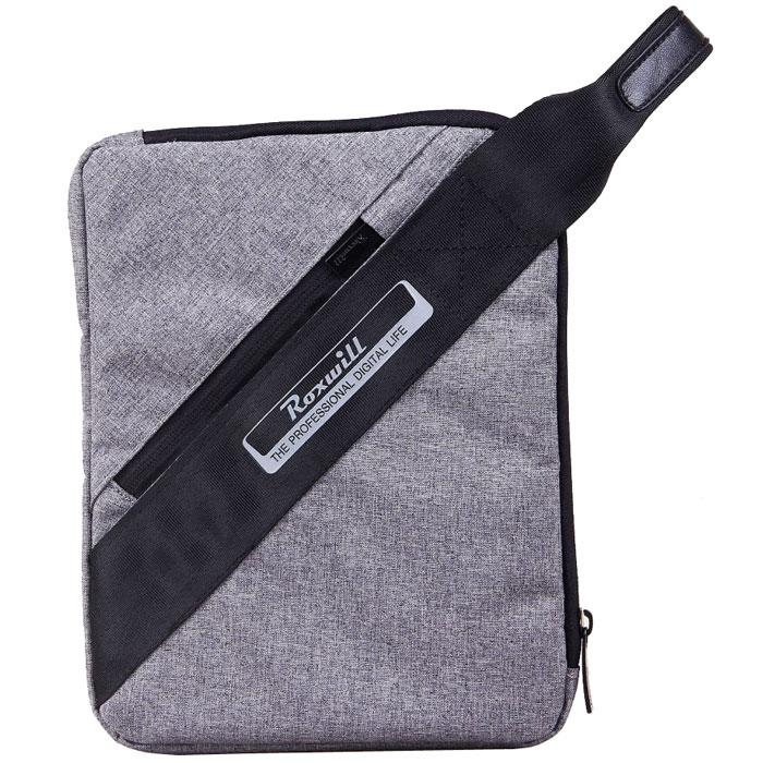 Roxwill Z10 чехол для планшета до 10, GreyZ10 greyЧехол - сумка Roxwill Z10 для планшетов с диагональю 10 изготовлена из плотного высококачественного нейлона, который надежно защитит содержимое от пыли, влаги и царапин. Для защиты от ударов он имеет подкладку из синтетического материала. Основной отдел предназначен планшета iPad, Samsung Tab 4 и других моделей размером 10. Чехол - сумка является современной модификацией популярной когда-то барсетки - у него есть удобный ремень на запястье.