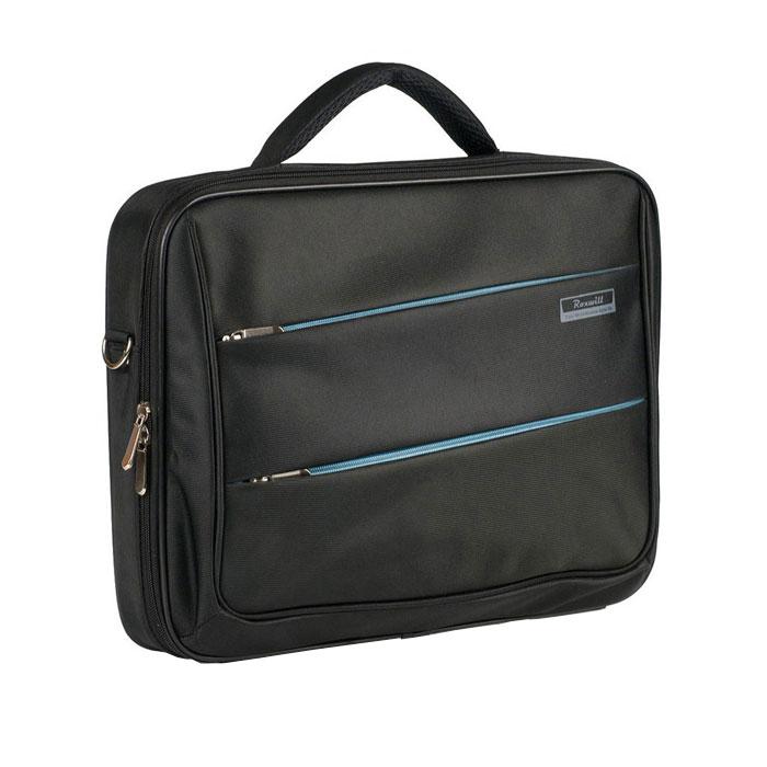 Roxwill DD70, Black cумка для ноутбука 17DD70 blackСумка Roxwill DD70 для ноутбуков диагональю до 17. Основной материал - высококачественный нейлон, который надежно защитит содержимое от пыли, влаги и царапин. Карбоновая рама надежно защищает ноутбук от торцевых ударов. Отдел для ноутбука имеет ремень для фиксации. В зависимости от размера ноутбука здесь можно разместить и зарядное устройство. Три внешних кармана - для документов, для аксессуаров и гаджетовДвойная застежка молния для удобного доступа к ноутбукуМеталлическая фурнитураРегулируемый съемный плечевой ремень.