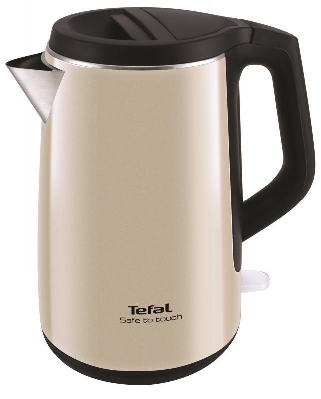 Tefal KO371I30 Safe to Touch электрический чайникKO371I30Электрический чайник Tefal KO371I30 прост в управлении и долговечен в использовании. Чайник с двухшаровым корусом сделан из высококачественной нержавеющей стали и пластика, имеет индикаторы воды и включения, а фильтр препятствует попаданию накипи в воду