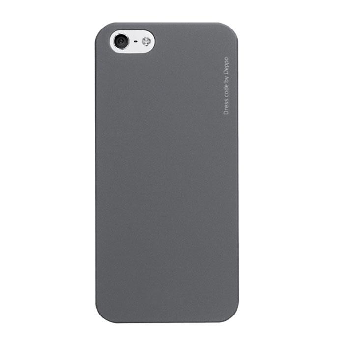 Deppa Air Case чехол для iPhone 5/5s, Grey83091Чехол Deppa Air Case для iPhone 5/5s/SE предназначен для защиты корпуса смартфона от механических повреждений и царапин в процессе эксплуатации. Имеется свободный доступ ко всем разъемам и кнопкам устройства. Чехол изготовлен из поликарбоната Teijin производства Японии с покрытием Soft touch.