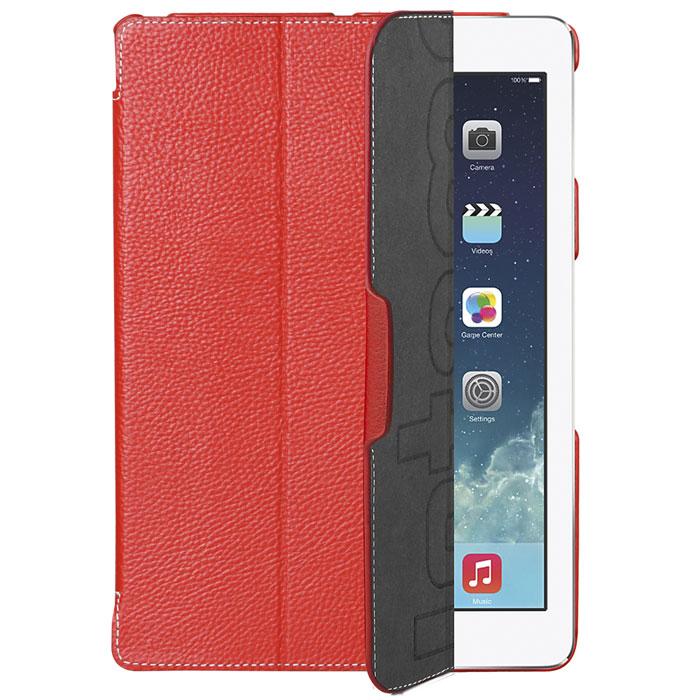 Untamo Accentika чехол для iPad Air 2, RedUACIPADAIR2REDСверхтонкий чехол Untamo Accentika для iPad Air 2 изготовлен из эко-кожи и прошит контрастной строчкой по краю. Плотно прилегает к устройству, формируя жесткий каркас с поверхностью матовой эко-кожи. Подкладка из микрофибры обеспечивает дополнительную защиту от механических повреждений.
