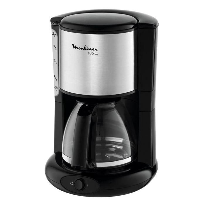 Moulinex FG360830 кофеваркаFG360830Кофеварка Moulinex FG360830 создана для современных и динамичных людей, которые не представляют свое утро без чашечки бодрящего ароматного кофе. Такая стильная и компактная кофеварка должна быть на каждой кухне. Благодаря простому и элегантному дизайну, она с легкостью впишется в интерьер любой современной кухни. Потребляемая мощность данной модели составляет 1000 Вт, а объем 1,25 литра - это говорит о том, что такое устройство обеспечит вас 10-15 чашками кофе за короткое время. В данном устройстве используется молотый кофе. Противокапельная система в этой кофеварке предотвращает протекание напитка и образование неприятного запаха. Автоматическое поддержание температуры в этой модели позволяет напитку продолжительное время оставаться горячим. Если ваш день должен начинаться с чашки ароматного кофе, то самое время купить кофеварку Moulinex FG360830