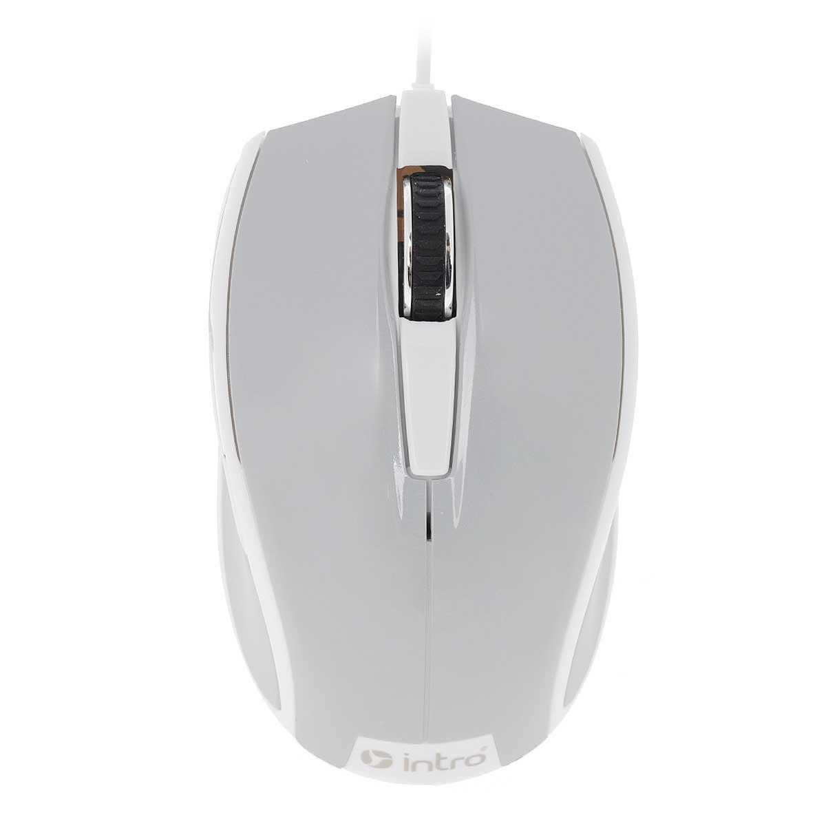 Intro MU104, Gray мышьMU104Стильная проводная мышь Intro MU104 обладает эргономичным дизайном и отлично подходит как для игр, так и для работы в офисе.