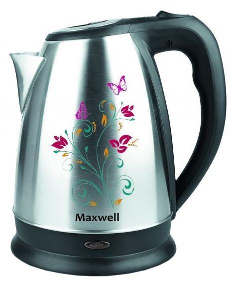 Maxwell MW-1074(ST) электрочайникMW-1074(ST)Maxwell MW-1074 характеризуется металлическим исполнением и средним объемом. В данной модели, нагревательный элемент представлен в виде закрытой спирали. К основным достоинствам закрытой спирали следует отнести более быстрый нагрев и простоту ухода. Благодаря подобной конструкции чайник можно использовать для кипячения как одного стакана, так и полного объема. Прибор легко моется. Достаточная мощность обеспечит пользователя кипяченой водой уже через несколько минут после включения. О включенном состоянии информирует специальный индикатор. Прочная конструкция обеспечивает длительный срок службы. Устройство не боится легких механических повреждений и благодаря своему неброскому, эргономичному дизайну станет превосходным дополнением любого интерьера. Безопасность, качество, удобство и эффективность - это ключевые свойства данной модели.Электрические чайники торговой марки Maxwell – это большой ассортимент моделей. Среди них вы сможете выбрать вариант, который гармонично будет смотреться на кухне, по объему резервуара соответствовать количеству членов вашей семьи и полностью устраивать вас по функциональности. Среди изобилия моделей предлагаются как самые простые чайники, так и усовершенствованные приборы с наличием дополнительных опций. Среди некоторых особенностей функциональных чайников можно выделить возможность регулировки температуры нагрева воды и заваривания чая непосредственно в чайнике. Каждый чайник Maxwell уникален. Разный дизайн, форма, мощность и объем дают возможность выбора, подчеркивая ваш изысканный вкус.