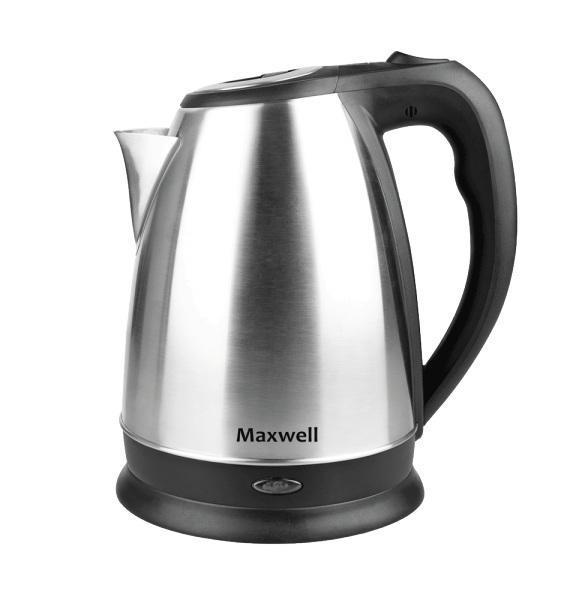 Maxwell MW-1045(ST) электрочайникMW-1045(ST)Безопасность, надежность, удобство и практичность – вот основные критерии, которые характерны для всех моделей чайников торговой марки Maxwell. Данная техника стала обязательным атрибутом современной кухни, позволяя быстро вскипятить воду для чашечки чая или кофе. Электрические чайники Maxwell отличаются своей эргономичностью и стильным дизайном, что позволяет их вписать в интерьер любого кухонного пространства.Электрические чайники торговой марки Maxwell – это большой ассортимент моделей. Среди них вы сможете выбрать вариант, который гармонично будет смотреться на кухне, по объему резервуара соответствовать количеству членов вашей семьи и полностью устраивать вас по функциональности. Среди изобилия моделей предлагаются как самые простые чайники, так и усовершенствованные приборы с наличием дополнительных опций. Среди некоторых особенностей функциональных чайников можно выделить возможность регулировки температуры нагрева воды и заваривания чая непосредственно в чайнике. Каждый чайник Maxwell уникален. Разный дизайн, форма, мощность и объем дают возможность выбора, подчеркивая ваш изысканный вкус.Независимо от стоимости, все чайники Maxwell безопасны в использовании. Они автоматически отключаются при закипании воды. Приборы выключаются, когда воды в чайнике недостаточно. Они работают от электрической сети, поэтому потребность использования газовой плиты исключена, что особенно важно при их эксплуатации детьми.
