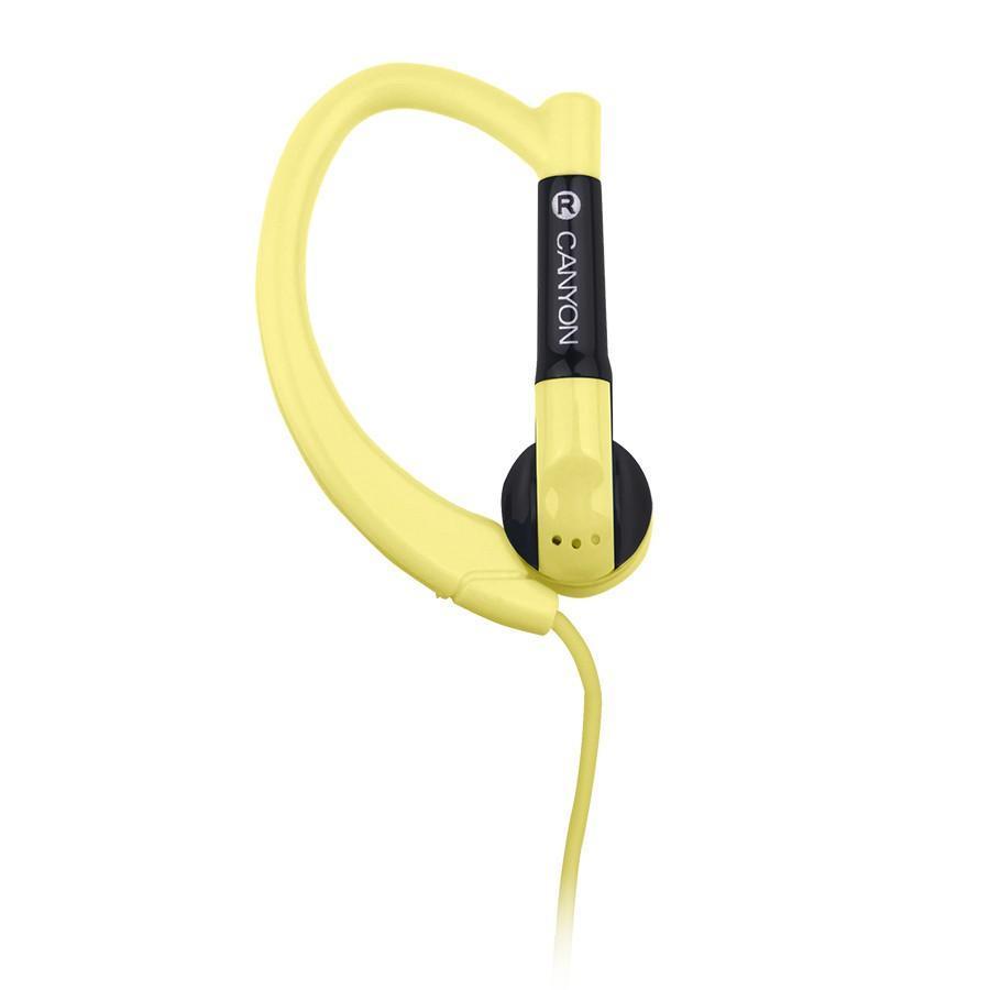Canyon CNS-SEP1 Sport, Yellow наушникиCNS-SEP1YГарнитура Canyon CNS-SEP1 обеспечивает максимум свободы во время занятий спортом или активного отдыха. Ее округлые заушины надежно фиксируют динамики в ухе, удерживая гаджет даже при резких движениях головой. Компактный пульт управления, совмещенный с микрофоном, обеспечивает максимальное удобство для управления звонками и воспроизведением музыки с мобильного устройства.