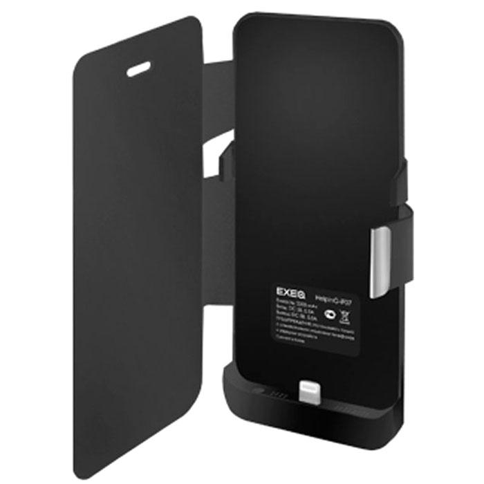 EXEQ HelpinG-iF07 чехол-аккумулятор для iPhone 5/5s, Black (2300 мАч, флип-кейс)HelpinG-iF07 BLЭлегантный и лаконичный чехол-аккумулятор Exeq HelpinG-iF07 поможет не только надежно защитить ваш любимый смартфон от загрязнений и царапин, но и обеспечит своевременную подзарядку вашему гаджету. Чехол оборудован встроенной батареей, что позволит продлить часы работы смартфона в 2 раза. С чехлом Exeq HelpinG-iF07 ваш смартфон будет не только умным, но и энергичным! Лаконичный дизайн чехла не только идеально подходит под дизайн iPhone 5 и 5s, но и совсем незначительно увеличивает его габаритные размеры, а также вес. Присоединив чехол к телефону, Вы практически не будете его ощущать, но будете уверены в надежной защите смартфона и своевременной подзарядке.Зарядку телефона можно осуществлять непосредственно через чехол Exeq HelpinG-iF07, просто подсоединив зарядное устройство телефона к чехлу и нажав кнопку питания на чехле (если кнопку не нажимать, то будет происходить зарядка чехла). Аналогично происходит и подключение телефона к компьютеру – чехол-аккумулятор Exeq HelpinG обеспечивает идеальную передачу данных между смартфоном и другими электронными устройствами.