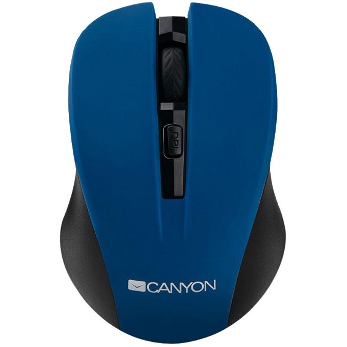 Canyon CNE-CMSW1, Blue мышьCNE-CMSW1BLБеспроводная мышь Canyon CNE-CMSW1 с переключаемым разрешением оптического сенсора сочетает в себе преимущества удобного манипулятора с ярким дизайном и создана для тех, кто ценит комфорт, точность позиционирования и функциональность. Эргономичная форма и особое прорезиненное покрытие создает максимальный комфорт даже при длительной эксплуатации. Выбирайте подходящий вам по вкусу цвет - модель доступна в нескольких ярких решениях.