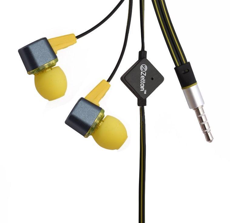 Zetton Square, Black Yellow гарнитура (ZTLSHSSQU)ZTLSHSSQUBYСтерео гарнитура предназначена для разговора по телефону без помощи рук и прослушивания музыки.Легкий алюминиевый корпус серого цвета, с пластиковой вставкой и цветными резиновыми амбушюрами.