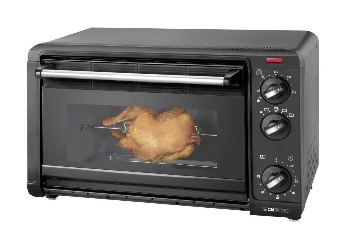 Clatronic MBG 3521, Black минипечьMBG 3521 scwartzМини-печь – это прекрасная альтернатива духовому шкафу, если есть необходимость экономить кухонное пространство. Компактные размеры и универсальные функции – вот одно из преимуществ этой бытовой техники. В отличие от микроволновки в мини-печи используются не СВЧ-волны, а инфракрасные, что позволяет готовить разнообразные блюда, которые можно приготовить при помощи духовки, тостера и гриляКроме этого, в этом аппарате можно размораживать продукты и поддерживать определенную температуру в заданном режиме определенное время. Управление мини-печью может быть механическим или электронным и позволяет выбирать различные режимы. Все модели оснащены стандартными режимами верхнего и нижнего нагрева, или комбинированным вариантом