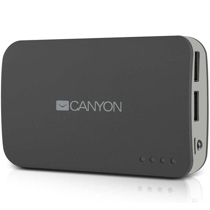 Canyon CNE-CPB78, Dark Grey внешний аккумуляторCNE-CPB78DGВнешний аккумулятор Canyon CNE – это замечательный выбор для подзарядки мобильных устройств и гаджетов при отсутствии доступа к стационарной электросети. Устройство иммет большую емкость, что позволяет брать этот аксессуар в длительные путешествия, а два USB-разъема с разной силой выходного тока служат для удобной подзарядки разных моделей электроники. Аккумулятор Canyon дополнен светодиодной индикацией, оповещающей владельца об уровне заряда.
