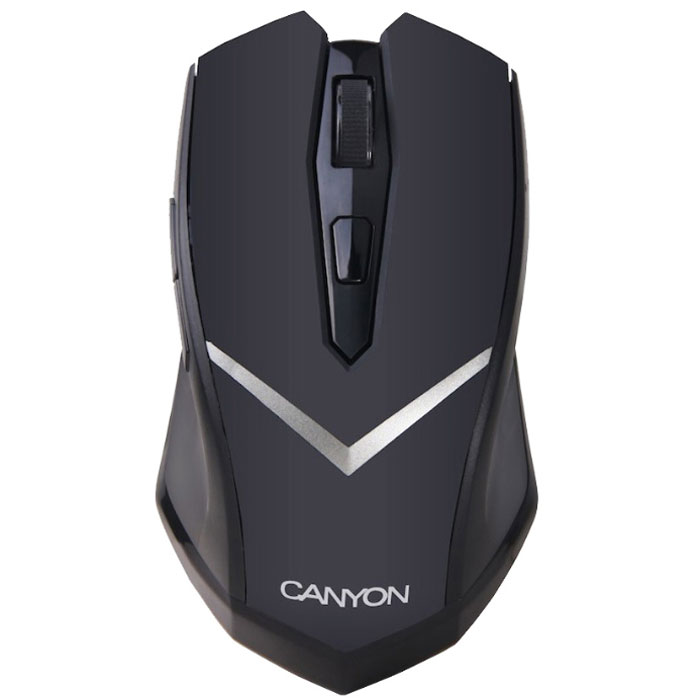 Canyon CNE-CMSW3, Black мышьCNE-CMSW3Canyon CNE – оптическая мышь, которой могут пользоваться как правши, так и левши. Устройство подключается к компьютеру или ноутбуку по радиоканалу, при помощи миниатюрного передатчика. Эргономичная форма обеспечивает комфорт даже при длительном использовании устройства. Разрешение сенсора можно менять от 800 dpi до 1600 dpi, приспосабливая манипулятор к различным задачам.